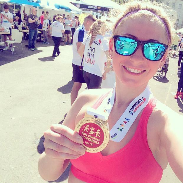 Маша Астахова на Кишиневском марафоне